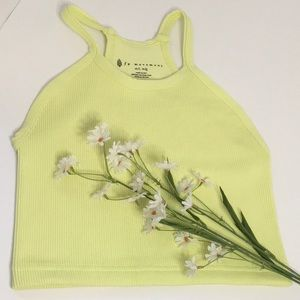 Free People Happiness Runs Neon Tank